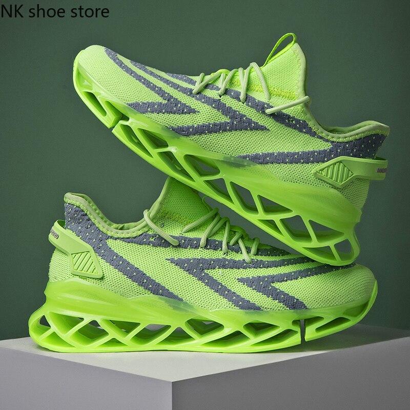 حذاء رياضي رجالي بتصميم كلاسيكي منخفض من القماش يسمح بالتهوية في الهواء من نوع esportivo موديل 2018