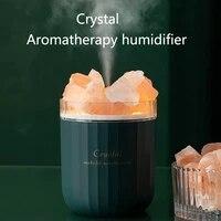 Diffuseur dhuile essentielle aromatique sans fil USB  humidificateur dair avec lampe datmosphere  humidificateur Portable daromatherapie en cristal pour la maison