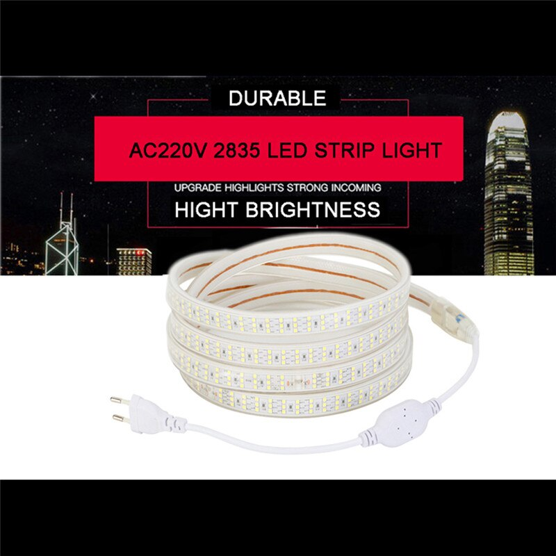 led strip 220v 20m 10m 50m 100m 1m 2m 3m 4m 5m 6m 7m 8m 110V Double Row Flexible Tape Warm White Cool