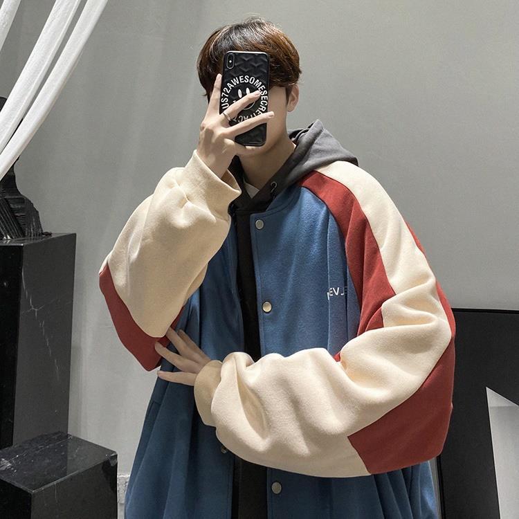 МУЖСКОЙ БЕЙСБОЛЬНЫЙ костюм, куртка-бомбер на осень и зиму, модная куртка-бомбер в стиле Instagram, подходящая к цвету, куртка с подкладкой, свобод...