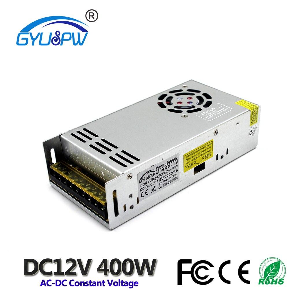 Universal dc fonte de alimentação 12v 33a 400 w interruptor led driver transformador 110 v 220 v ac para dc12v smps para lâmpada tira cnc cctv motor