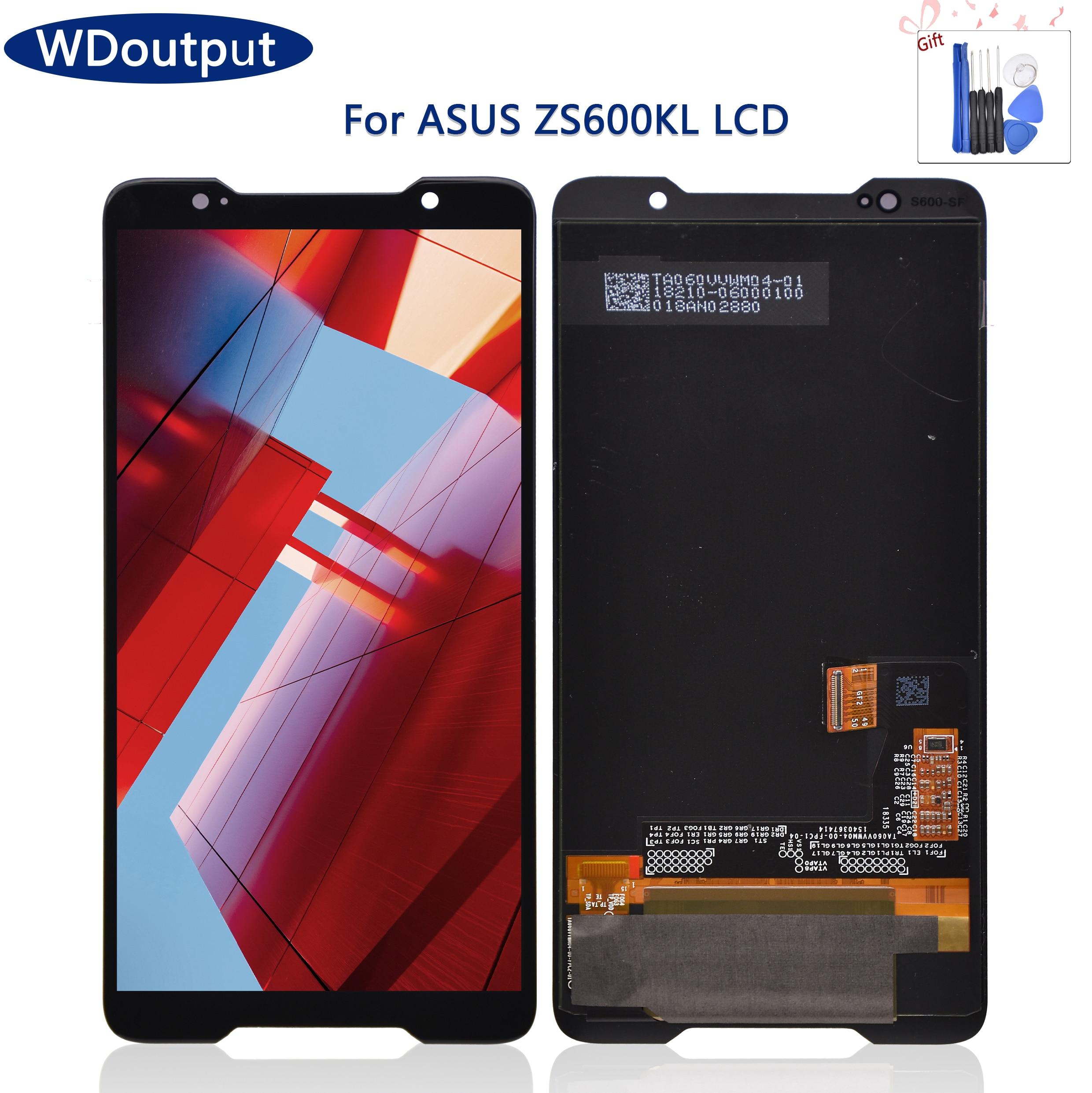 شاشة Amoled أصلية 6.0 بوصة لهاتف Asus ROG Zs600kl z01QD شاشة LCD تعمل باللمس مع محول رقمي قطع غيار