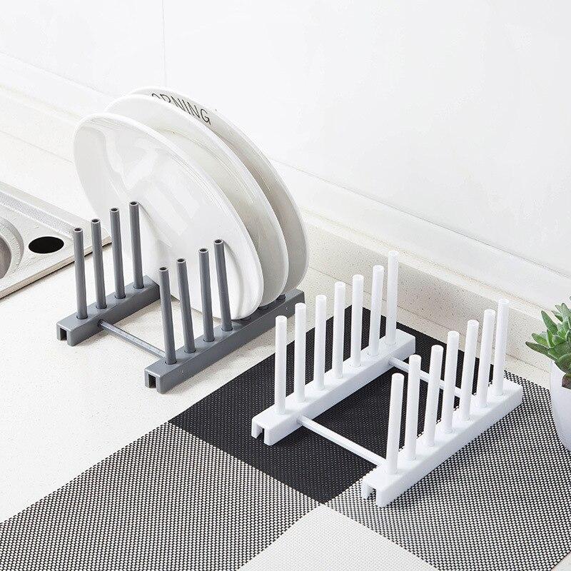 1pcs Kitchen Organizer Pot Lid Rack Spoon Plate Holder Shelf Cooking Dish Tray Stand Accessories  Storage