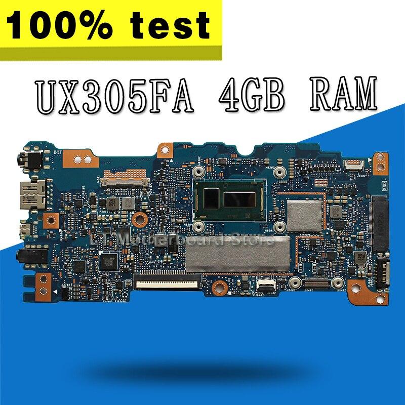 UX305FA اللوحة الأم 4 gb RAM ل For Asus UX305F U305F UX305 اللوحة الأم UX305FA اللوحة الرئيسية UX305FA اختبار 100% OK