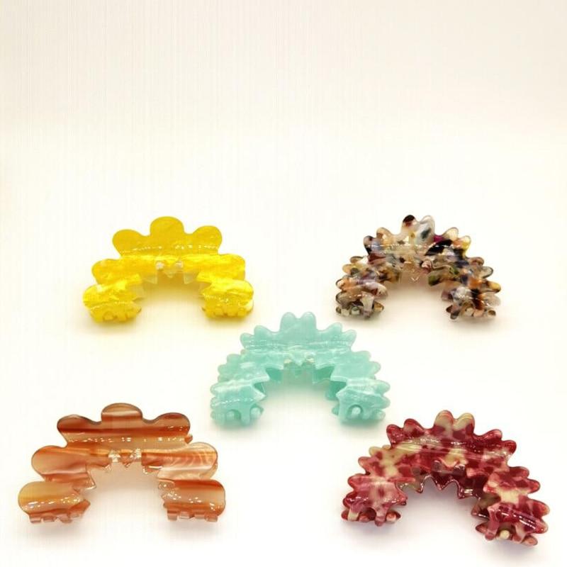 Acrylic Hair Clip Claws Hairpin Makeup Bath Hair Accessories Flower Hair Claw Headwear for Women Geo