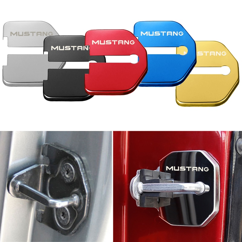 4 шт., защитная Пряжка для Ford Mustang Панели и обрамление межкомнатных дверей      АлиЭкспресс