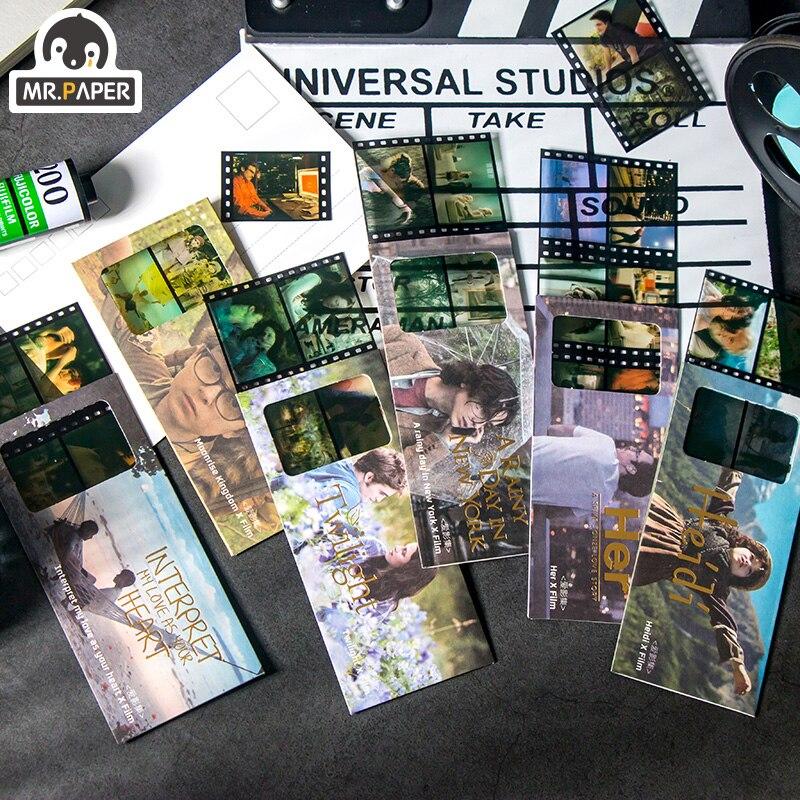 Mr.paper 6 видов конструкций дневник стикер скрапбук Yuesheng Kingdom серия 24 рамки пленка стикер креативный стикер для канцелярских товаров стикер