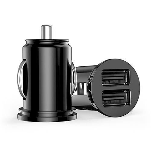 Mini cargador de coche USB Dual 2 puertos adaptador para iPhone x 7 XR XS 8 Huawei cargador USB cargador de teléfono móvil Autolader carga rápida