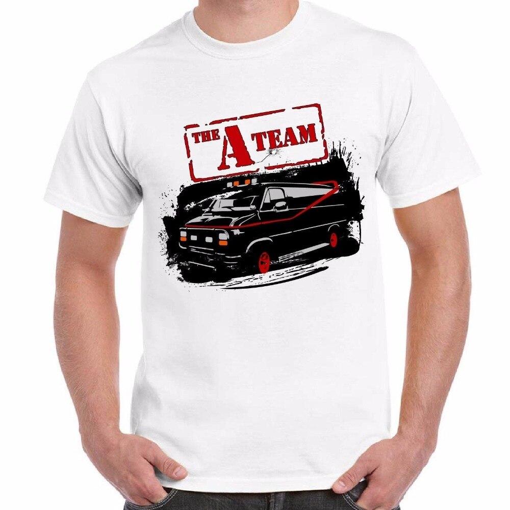 Novedad de 2019, divertido y nuevo, camiseta A la moda para hombre, camiseta Uomo Stampa Telefilm Famosi Andi 80, camisetas Vintage a-team Van Logocustom