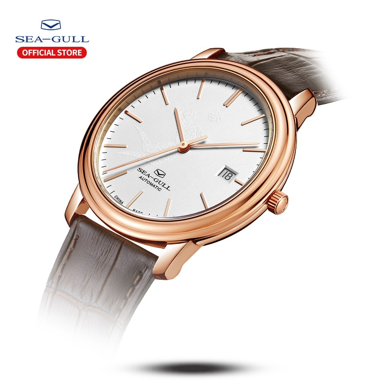 Seagull watch ladies automatic mechanical watch sports volleyball female watch calendar belt waterproof female watch 519.12.1030 enlarge