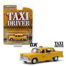 GL 1 64 1975 CHECKER TAXI película aleación modelo coche fundido Metal juguetes regalo de cumpleaños para niños niño