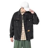 tuan high quality spring and autumn mens casual denim jacket mens loose large size denim jacket