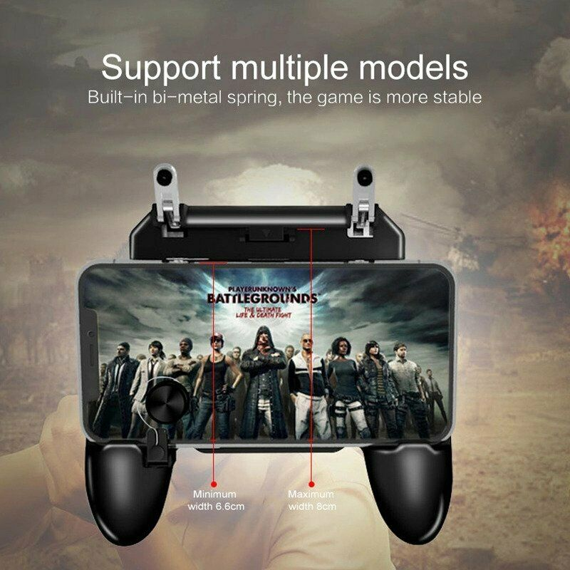 W11 + pugb controlador de jogo móvel livre fogo pubg móvel joystick gamepad metal l1r1 shooter joystick para ios android telefone móvel