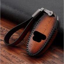 Housse de clé de voiture en cuir véritable pour infiniti FX35 FX37 FX50 G25 G35 G37 JX35 M35 M37 M45 Q70 sac de Protection pour la peau