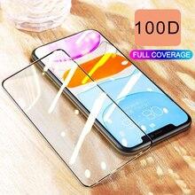 100D kavisli kenar tam kapak koruyucu cam iPhone 7 8 6 6S artı 11 Pro ekran koruyucu iPhone X XR XS Max 11 cam