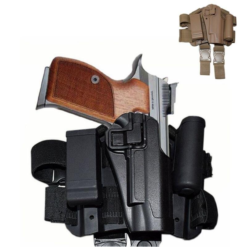 Colt 1911 Airsoft Pistol Gun Holster Tactical Quick Drop Leg Holster Right / Left hand Belt Holster Paintball Hunting Holster