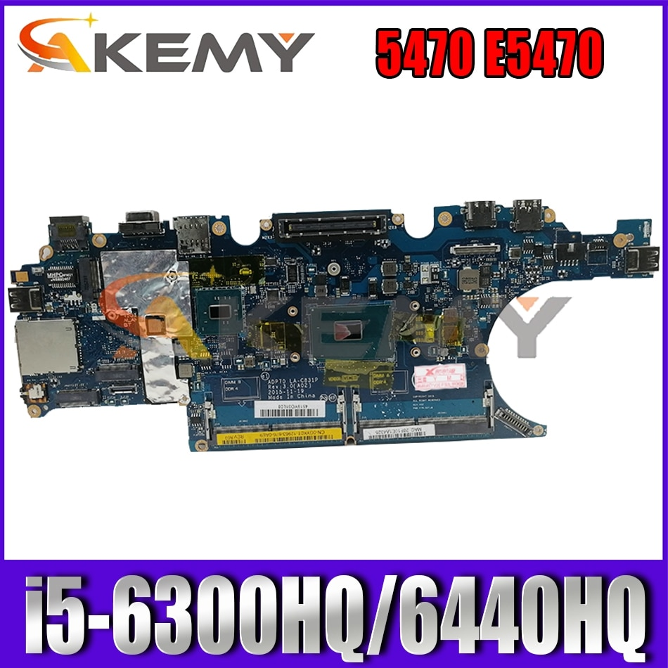 CN 0792TG 02MMKG لأجهزة الكمبيوتر المحمول DELL Latitude 5470 E5470 اللوحة الأم ADP70 LA-C831P MB مع i5-6300HQ/6440HQ DDR4 100% تم اختبارها بالكامل