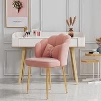 nordic modern luxury velvet backrest makeup chair home dining chair study desk dressing each chair restaurant bedroom furniture