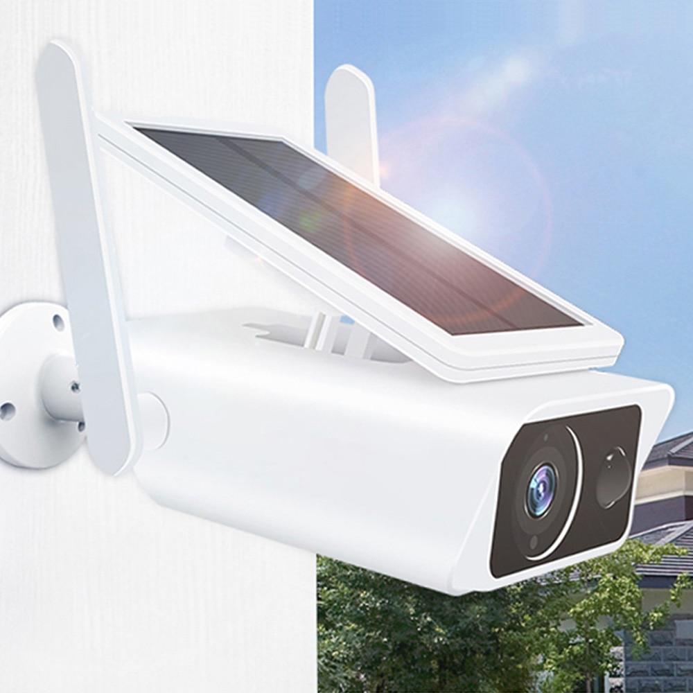 1080P اللاسلكية الشمسية واي فاي كاميرا مراقبة خارجية كاميرا الأمن المنزل الذكي CCTV شاشة عرض فيديو PIR كشف كاميرا مقاومة للماء