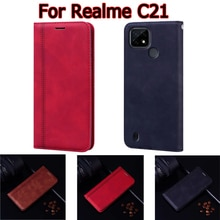 Case For Realme C21 Cover Flip Phone Protective Shell Stand Wallet Leather Book On For Realme C 21 C