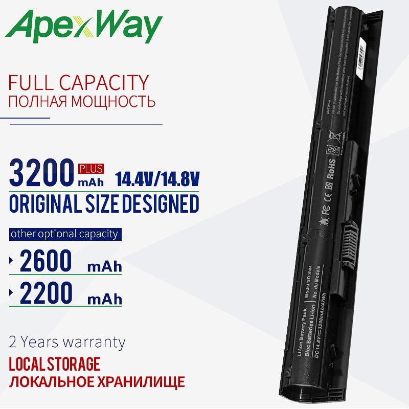 14,8 V batería para ordenador portátil, VI04 para HP Pavilion 15-ab093tx 15-ab527TX 15-ab526TX 15-ab528TX 15-ab528TX TPN-Q141 TPN-Q142 756479-421