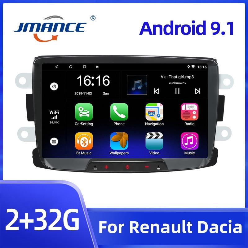 JMANCE 2din Android 9.1 Car Radio 8'' autoradio Car Multimedia Player GPS Mirrorlink Car Stereo For Renault Duster/Logan/Dokker