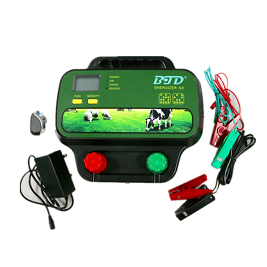 wireless remote control farm electric fence energiser Charger Energiser Controller for Horses Sheep Cattle enlarge