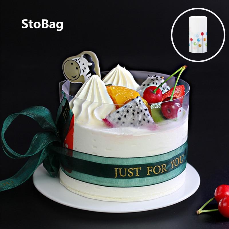 StoBag 6/8/10cm DIY transparente Mousse borde de la torta Mousse Rimmed hornear torta de cumpleaños Bounded Film Band embalaje decoración herramienta