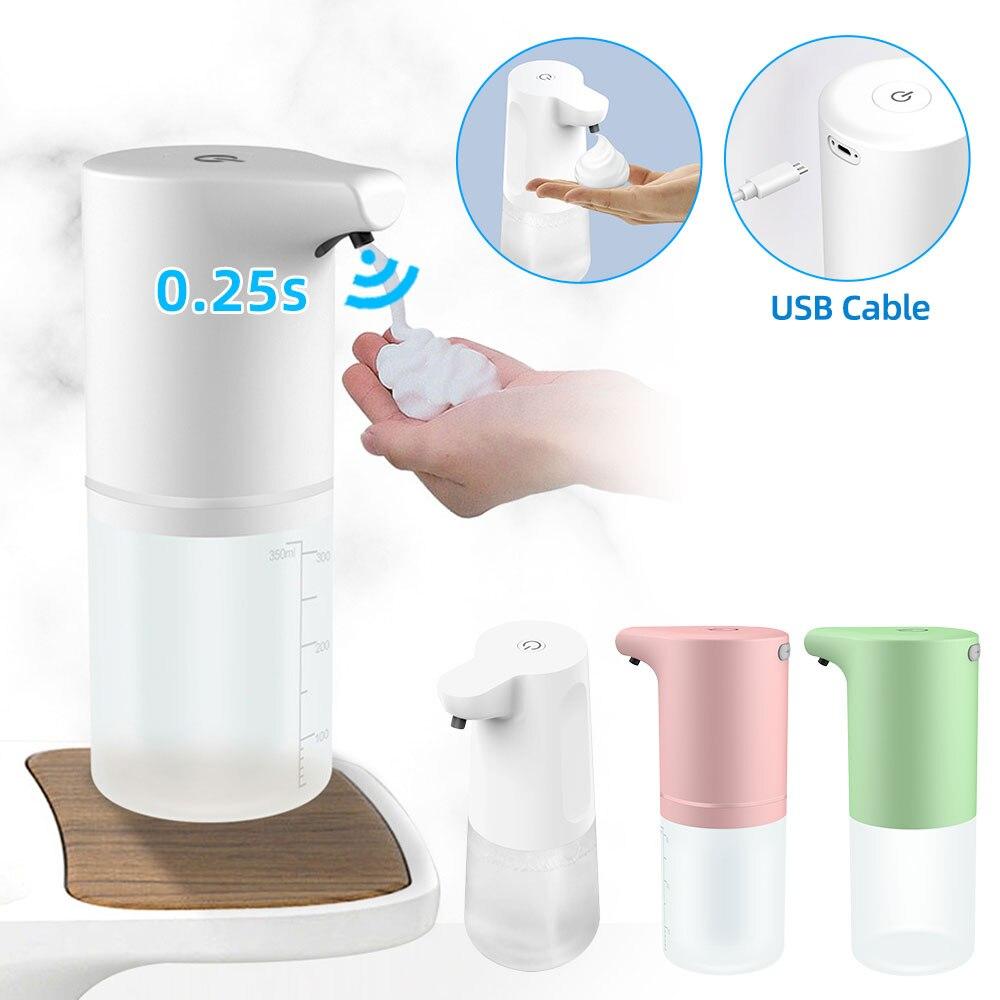 الحمام تركيبات وعاء توزيع الصابون الأوتوماتيكي Touchless USB شحن الذكية آلة الرغوة مستشعر الأشعة تحت الحمراء اليد الحرة الصابون السائل
