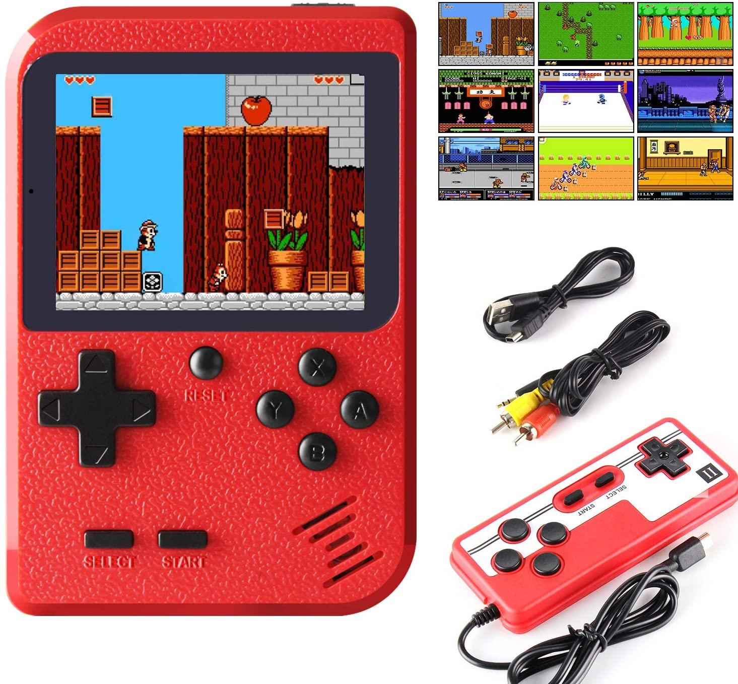 Портативные игровые консоли 400 в 1, ретро видео игровая консоль, 8-битный игровой плеер, портативные игровые плееры, геймпады для детей, подар...