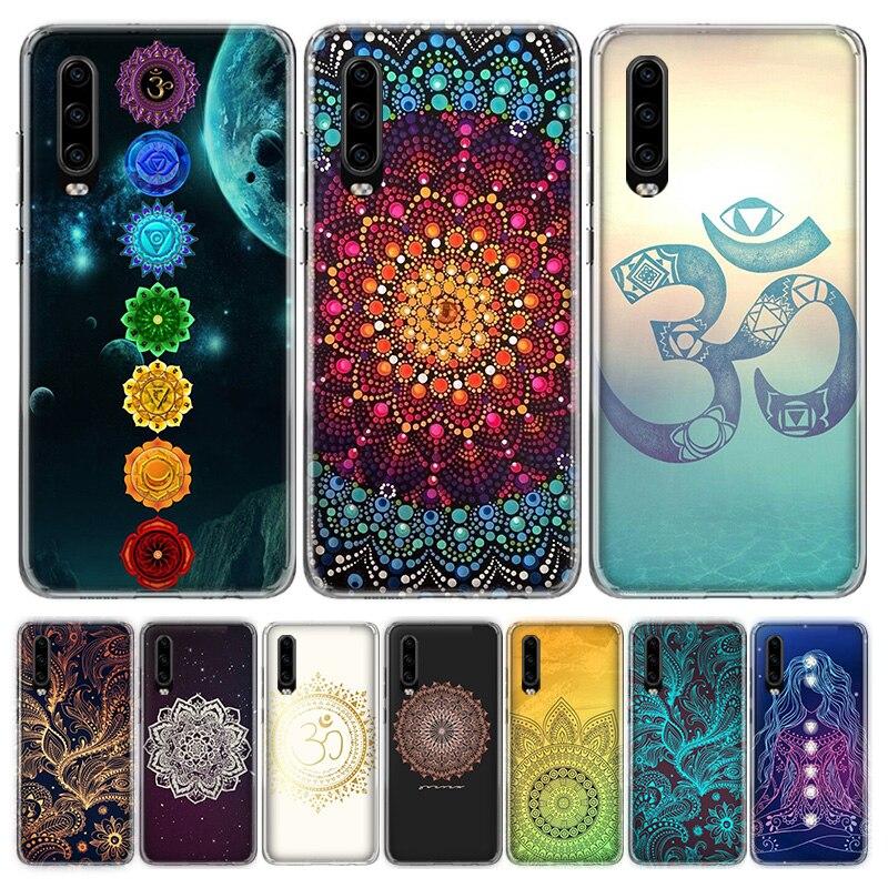 Mandala chakra yoga funda del teléfono para Huawei P40 P30 P20 P10 Mate 10 20 30 Lite Pro P Smart Z Plus 2018 2019 cubierta Coque