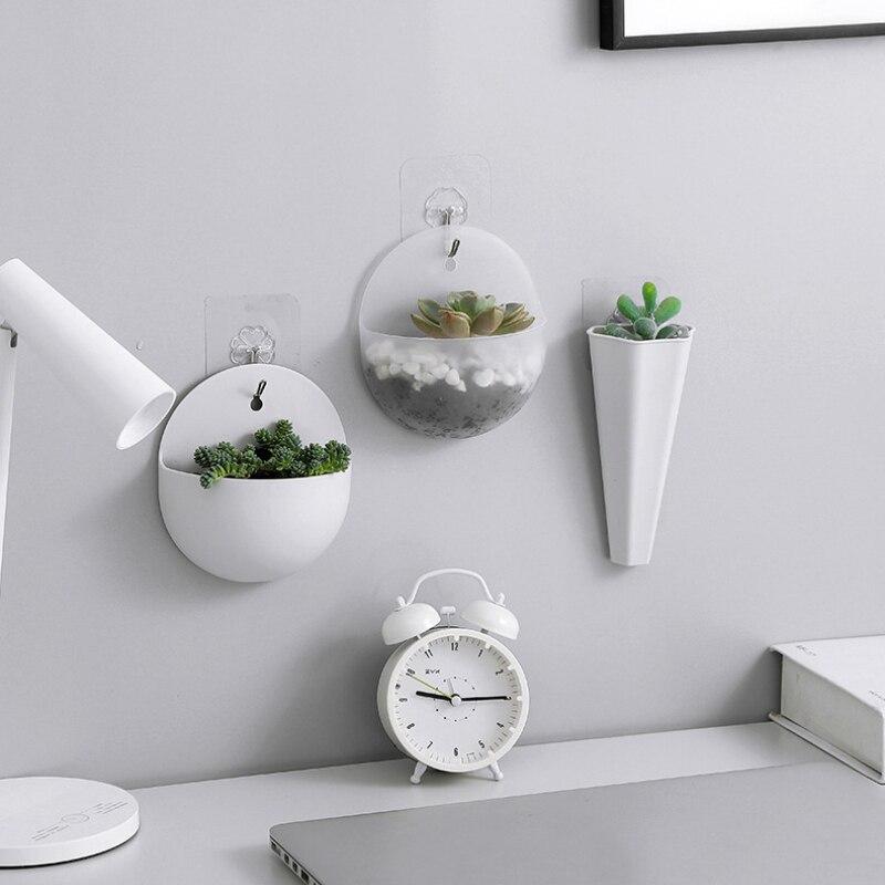 2020 nova planta pote de plástico criativo pendurado vaso plantador parede montado flor plantador jardim decoração da parede interior para planta suculenta