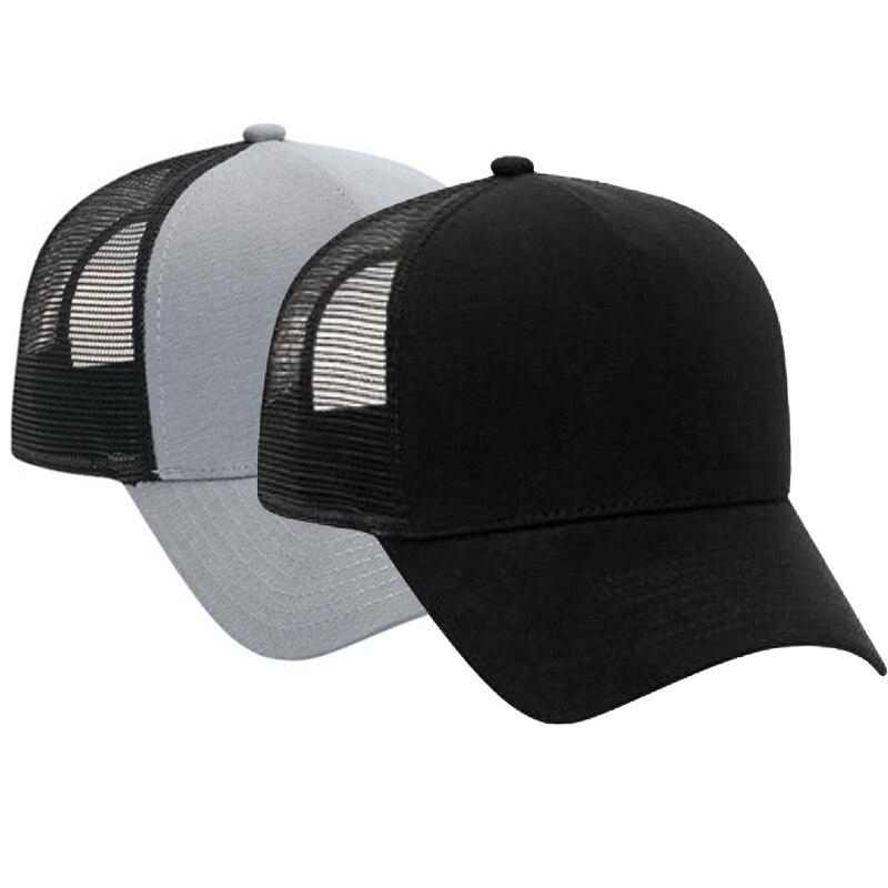 Boné de beisebol preto cinzento de justin bieber com malha ajustável chapéu do camionista da flanela do algodão meihuida com parte traseira