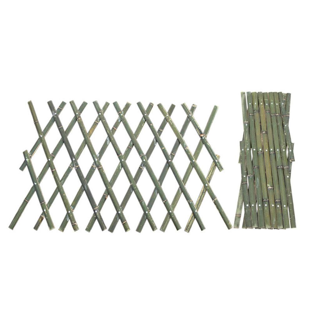 Valla de extensión, barrera de bambú, valla telescópica tejida de bambú, red de bambú, marco de escalada de planta, picket, jardín, patio
