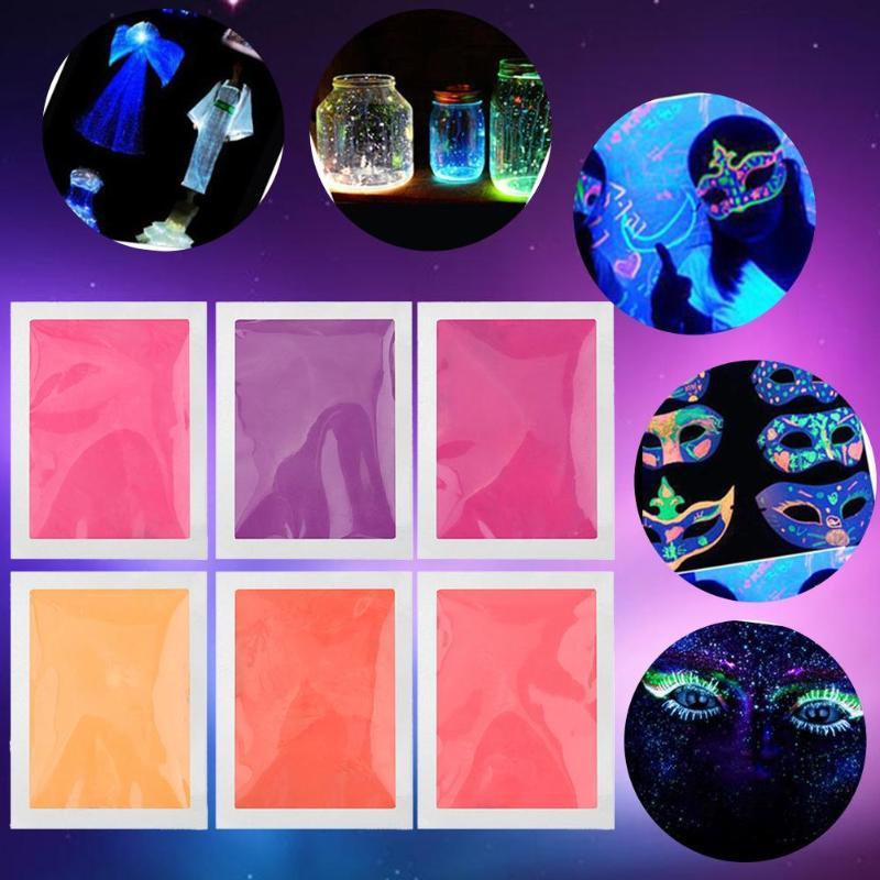 10g festa luminosa diy brilho brilhante no escuro pintura estrela desejando garrafa radiationless fluorescente pó prego brilho romance