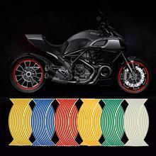 1 Set Universele 16 Strips Wiel Reflecterende Sticker 18Inch Wiel Ring Waterdichte Sticker Auto Motorfiets Sticker Styling Wiel
