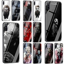 Music Slipknot Corey Tempered Glass Phone Cover Case For Xiaomi Mi 8 9 Redmi 4X 6A Note 5 6 7 Pro Pocophone F1