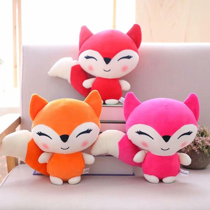 Muñecas Kawaii de 23cm, zorro de peluche, juguetes de peluche para niñas, niños, juguetes, almohada de peluche, zorros, muñeco de peluche suave