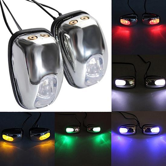 Lámpara de luz LED Universal para coche, 1 par, limpiaparabrisas, chorro de agua, boquilla de pulverización de agua, boquilla limpiaparabrisas, para la mayoría de los coches