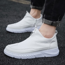 Whoholl Plus Size 39-44 NEW 2020 Patent Leather Men Casual Shoes Brand Mens Loafers Moccasins Breath
