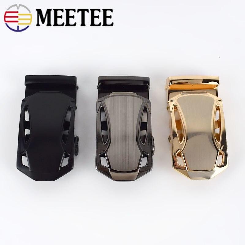 Meetee 1pc/3 uds 35mm de aleación de moda hebilla de cinturón para hombre hebilla automática de la cabeza para 33-34mm correa de cuero DIY de Hardware decorativo