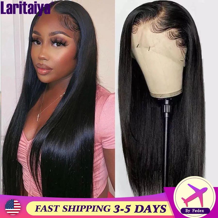 Laritaiya 13x4 Lace Front Wig 13x1 T Part HD Transparent Lace Front Wigs 4X4 Lace Closure Wig Malays