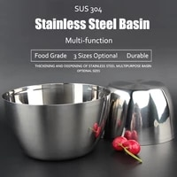 141618 cm sus304 stainless steel egg bowl polishing mixing bowl whisking cooking bowl kitchen tool accessories gadget