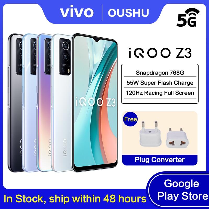 Смартфон 5G IQOO Z3, Snapdragon 768G, 4400 мАч, 55 Вт, 6,58 дюйма, 120 Гц