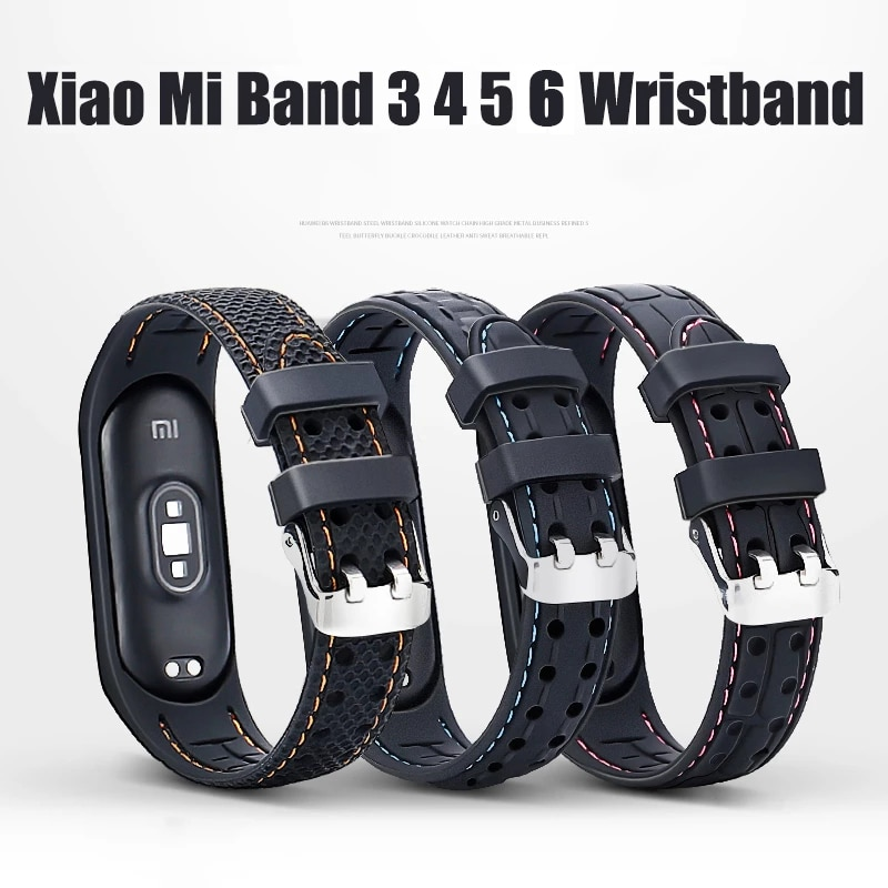 Strap For Xiaomi Mi band 6 5 4 Sport belt Amazfit band 5 Silicone Smart watchband replacement bracelet for mi band 3 4 5 6 strap