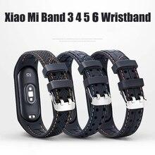 สำหรับ Xiaomi Mi 6 5 4กีฬาเข็มขัด Amazfit Band 5ซิลิโคนสมาร์ทเปลี่ยนสายนาฬิกาสำหรับ Mi band 3 4 5 6สาย