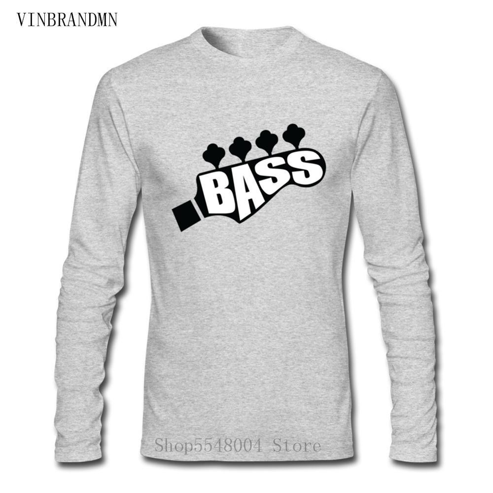 Hip Hop famille fête T-Shirt personnalisé à manches longues Hipster coton chemises pas cher Rock musique T-Shirt hommes basse guitare Lets Rock T-Shirt