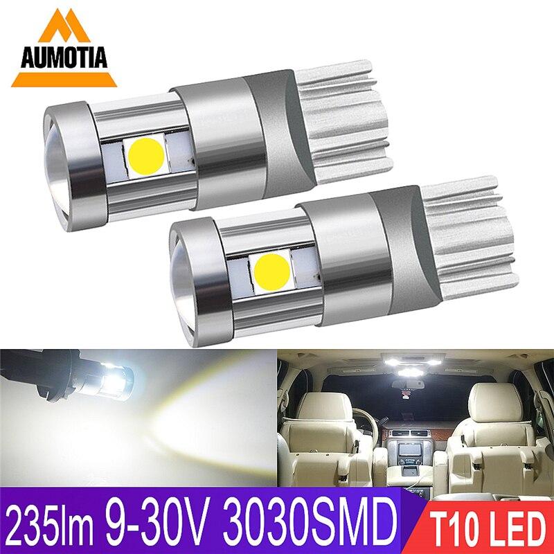 10x T10 LED Car light Bulb 194 W5W 5 LEVOU 501 3030 SMD Auto Turn Lado Marcador de Luz Da Placa de Licença Interior Lamp Bulb 9-30V IC