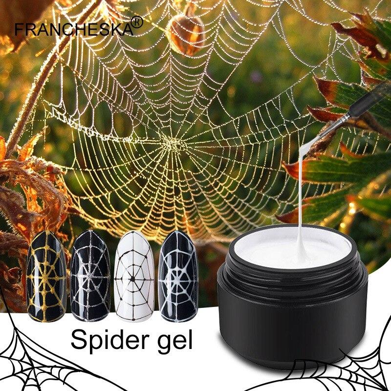 Francheska Gel UV DIY uñas arte estiramiento dibujo Gel araña goma Super estiramiento japonés pegamento pintado uñas esmalte araña