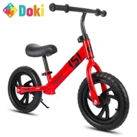 doki toy 12 inch balance bike walker kids ride on toy for 2 6 years old children learning walk two wheel scooter no foot pedal